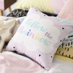 Adairs Kids Pastel Rainbow Quilt Cover Set, kids doona cover, kids rooms