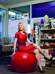 "Marissa Mayer - ""Really in technology, it's about the people, getting the best people, retaining them, nurturing a creative environment and helping to find a way to innovate."""
