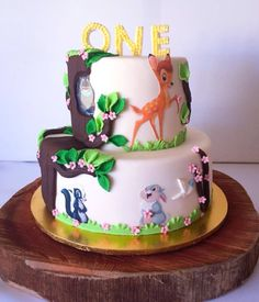 Bambi cake by Niknaks Sweetest Treats 1st Birthday Party For Girls, 1st Birthday Cakes, Girl Birthday Themes, Baby Girl First Birthday, Birthday Ideas, Bambi, Cupcakes, Cupcake Cakes, Christmas Baby Shower