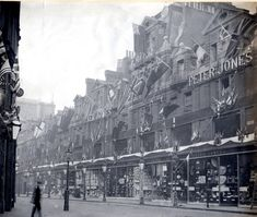 Forgotten Chelsea: This picture from October 1900 shows the previous incarnation of the Peter Jones store, a building gone but definitely not forgotten. Victorian London, Vintage London, Old London, Victorian Era, London History, Tudor History, British History, Uk History, Strange History