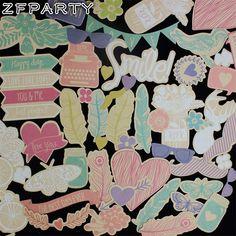 Aliexpress.com : קנו כרטיסים 100 יחידות צבעוני ZFPARTY חתכים למות לרעיונות שמח מתכנן/כרטיס קבלת/ביומן פרויקט מספקי cutting dies אמינים בZFPARTY Handcraft Store