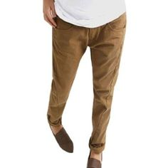 Allegra K Woman Zip Fly Button Closure Pockets Casual Harem Pants Light Brown M Allegra K. $14.24