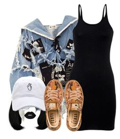 """Snap out of it"" by tyrionnak ❤ liked on Polyvore featuring BLK DNM, T By Alexander Wang, Lime Crime and Puma"