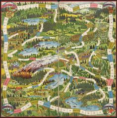 Bord Games, Forest Games, Rangers Game, Race Around The World, Board Game Design, Vintage Board Games, Diy Games, Game Art, Wallpaper