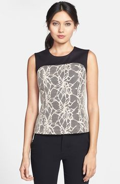 Robbi & Nikki Bonded Lace Knit Top available at #Nordstrom