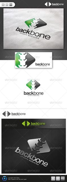 Back Bone Logo  #GraphicRiver         Back bone Logo is 100% editable and resizeable vectors! suitable for health consultant, coaching, health service or other related. Well organized file, All colors and text can be modified, read the instruction readme.pdf  Font: read readme.pdf  Files: .ai / .eps / .eps version 10 / .psd  Size: Resizeable  	 Contact me if you need any help and would be appreciate if you may rate this item..   Cheers!