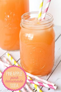 All-time Favorite Lemonade - Pineapple Pink Lemonade Soda!! #lemonade