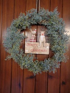 Ghirlanda natalizia - Merry Christmas wreath