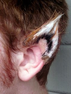Special Edition Fox Werewolf Ears Prosthetic by Quarley on Etsy, $25.00