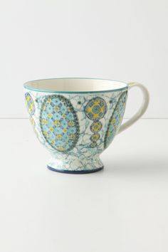Those colorful mugs from Anthoropologie. Wanna collect all of them!!! Kebaya Mug - Anthropologie.com