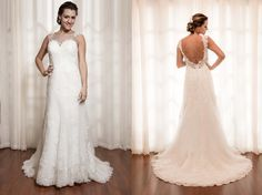 O vestido de frente única com costas abertas transmite o glamour, a elegância e valoriza a mulher. - V029