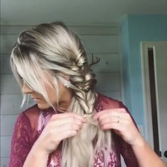 Weddinghairstyles hairtutorial hairvideos updostyle braidedhairstyle hairgoals the best hair braid styles Easy Hairstyles For Long Hair, Braids For Long Hair, Pretty Hairstyles, Braided Hairstyles, Wedding Hairstyles, Hairstyles With Headbands, Braided Headbands, Quick Braids, Simple Braids