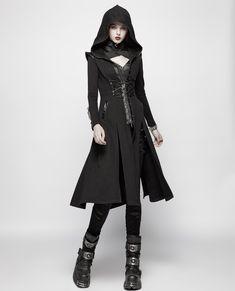 Dark Fashion, Gothic Fashion, Badass Women Fashion, Mode Cyberpunk, Mode Costume, Mode Kpop, Fantasy Dress, Fantasy Clothes, Fantasy Outfits