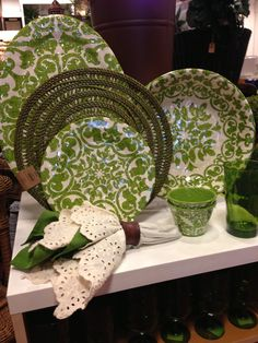 Pretty green dishes are perfect for spring!