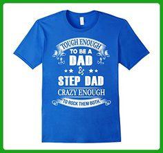 Mens Touch Enough to be a Dad and step Dad T-Shirt 3XL Royal Blue - Relatives and family shirts (*Amazon Partner-Link)