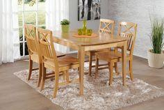 NELLA-ruokailuryhmä pyökki (pöytä 125x80cm ja 4 tuolia puuistuin) | Sotka.fi