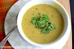 Crema de Plátano Verde (Creamy Plantain Soup)