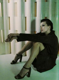 Milla Jovovich for Strenesse F/W 1997 | Milla Jovovich | Milla jovovich, Fashion shoot, Women