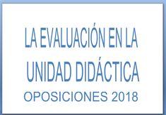 EVALUACIÓN UNIDAD DIDÁCTICA OPOSICIONES SECUNDARIA 2018 Montessori, Classroom, Teacher, Education, Learning, School, English, Shopping, Reading Assessment