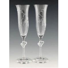 Beauty and the Beast Toasting flutes, Rachel didn't want to get too character based, but these are still tastefully done, and so cute!