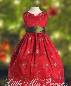 image detail for princess red holiday girls christmas dress girls christmas dresses - Girl Christmas Dresses
