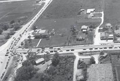 Post Oak and Westheimer, circa 1954. This is looking south where Neiman Marcus is today.