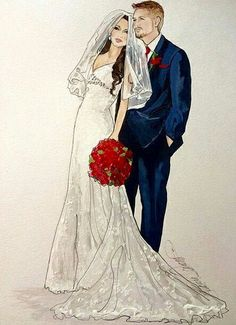 Mateimonio Wedding Drawing, Wedding Dress Sketches, Wedding Dresses, Cool Backgrounds, Wallpaper Backgrounds, Couple Silhouette, Couple Drawings, Fashion Design Sketches, Up Girl