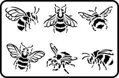 x Reusable Stencil Designed by Zeb & Jami Ray Thickness: Printable Stencil Patterns, Stencil Templates, Stencil Designs, Wood Burning Stencils, Wood Burning Art, Bee Stencil, Stencil Art, Pyrography Patterns, Pyrography Designs