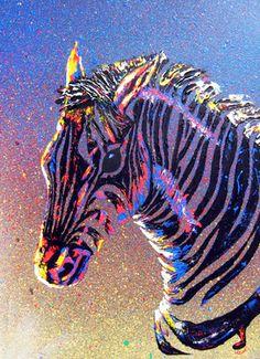 "I want this!!!  Saatchi Online Artist Mayhem Mediums; Painting, ""Zebra "" #art"