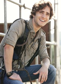 Diego Boneta: I checked him in and now he only asks for me! He's a nice guy and not all up his own ass and into himself. Wish more celebrities were like that.