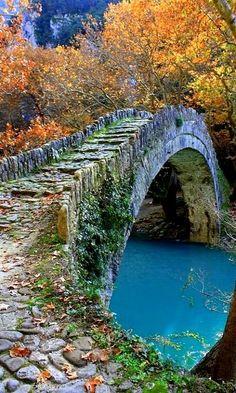 Old Stone Bridge, Epirus, Greece