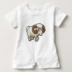 #cute #baby #bodysuits - #Ram Farm Animals Cartoon Character Baby Romper