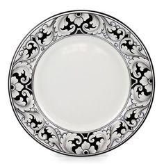 DERUTA - 'VARIO, NERO' Collection - Dinner Plate | Artistica Italian Ceramics