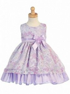 d722ccf6ef0 I just bought Lito Lilac Floral Tencel Burnout Easter Dress Baby Toddler  Girl from Sophias Style.