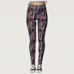 Stylish Navy Blue Tropical Leaf Greenery Pattern Leggings leg toning workouts thighs, aloyoga leggings, yoga leggings #Workoutleggings #gymapparel #gymfashion, dried orange slices, yule decorations, scandinavian christmas Leg Toning, Toned Legs Workout, Toning Workouts, Health Fitness Quotes, Fitness Gifts, Health And Fitness Tips, Yoga Facts, Pattern Leggings, Yule Decorations
