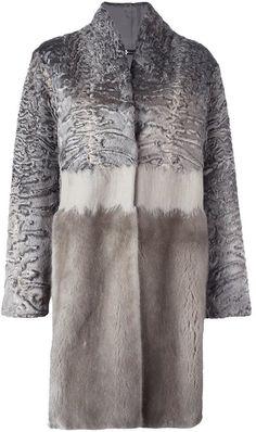 Manzoni 24 tonal fur coat