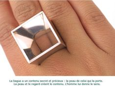 andrea pIneros - a ring with a hole …. that allows to discover the « real » jewel : your own skin