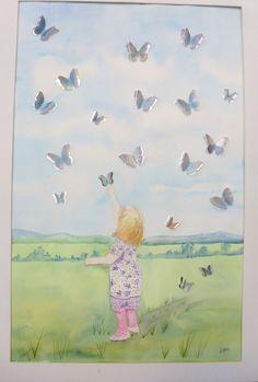 Lucia & Butterflies Watercolours, Butterflies, Painting, Art, Art Background, Painting Art, Kunst, Butterfly, Paintings