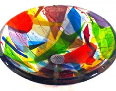 Hand Blown Glass Sinks http://www.vesselglasssink.com/