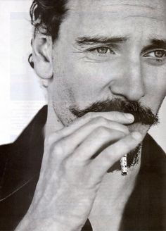 Michael Fassbender - my God only he could make this mustache look good Michael Fassbender, Moustaches, Beautiful Men, Beautiful People, Mans World, Attractive Men, Famous Faces, Belle Photo, Pretty People