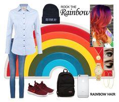 """Rainbow Hair"" by flehhh ❤ liked on Polyvore featuring Anya Hindmarch, Calvin Klein, DUBARRY, NIKE, Eastpak, Kate Spade, Lana, Michael Kors and rainbowhair"