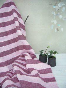 Stripe bath towel raspberry/pink