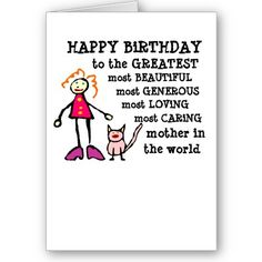 Funny Birthday Card for Mom from Zazzle.com