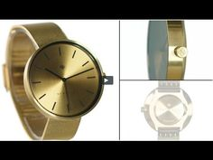 The Drumline watch by Newgate Watches. A minimalist watch with gold bras...