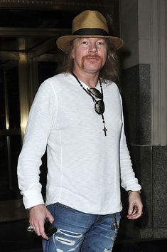Axl Rose outside his New York City Hotel.