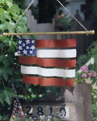 metal flashing flag--that's the undulating galvanized metal!