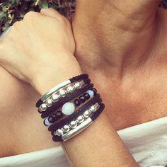 F16.BCT2 Bracelete Pedra Jade Milk, Cristais e metais banhados a prata