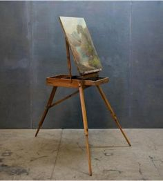Vintage French Landscape Painters Case Easel