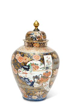 A Fine Large Imari Vase and Cover