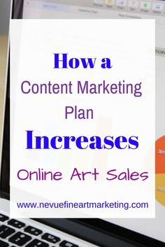 Would you like to see more traffic visit your online art gallery? You can drive more traffic to your gallery with a content marketing plan.